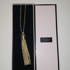 Victoria's Secret gold tassle necklace